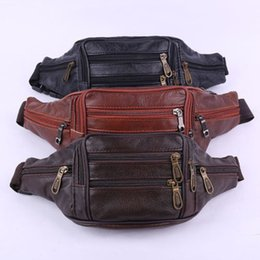 Leather Sling Packs Australia - New Men Women PU Leather Waist Pack Hip Belt Fanny Purse Sling Bag Wallet Purse Holder Solid Zipper Casual Fashion New Sale 2019