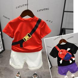 $enCountryForm.capitalKeyWord Australia - Designer Summer Toddler Boys Clothes Little Bag Tops+ Shorts Suits Kids Boys Sets Costumes Children Outfits Clothes tracksuit 2019