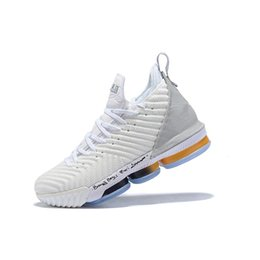 cheap watch boxes UK - Cheap new mens lebron 16 basketball shoes MVP White Gold Black Watch MPLS Wolf Grey Equality youth kids lebrons XVI sneakers tennis with box