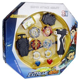 beyblades metal fusion toys NZ - Original Box Beyblades Burst For Sale Metal Fusion 4D 3N180A With Launcher and arena Spinning Top Set Kids Game Toys A Y200703