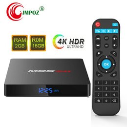 Uhd Tv Box Australia - Hot M9S MAX Android 7.1 Amlogic S905W Quad Core TV BOX 2GB 16GB 1GB 8GB Suppot H.265 UHD 4K 2.4GHz WiFi Set-top box Better A95X A5X TX6