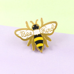 Wholesale kinder jacket for sale – custom Golden Bee Brooch Insect Honeycomb BEE KIND Enamel Pin Up Jackets Sweater Cute Badge Men s and Women s Jewelry Children s Gifts
