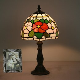 $enCountryForm.capitalKeyWord Australia - 8 Inch New European Glass Table Lamps Stained Glass Lamp For Bedside Study Pastoral Living Room Coffee Bar Marriage Room Table Lights
