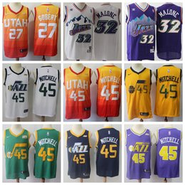 9436d2d5c350 Utah Donovan 2019 Mitchell Statement jersey Ricky 3 Rubio red gold swingman classics  Basketball Jerseys
