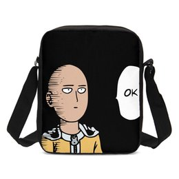 China 2019 One Punch Man Sling Bag Jump Anime Design Messenger Bag Children CrossBody Boys Girls Shoulder Handbags sac a main supplier wholesale punched pockets suppliers