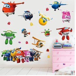 $enCountryForm.capitalKeyWord NZ - 3D cartoon Super Wings Jett airplane PVC Decals Adhesive Wall Stickers Mural Home Decor kids boy bedroom nursery birthday gift