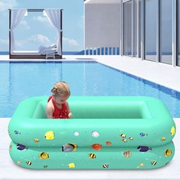 inflatable tub pool UK - Children Multi-layer Bathing Tub children Home Paddling Pool Inflatable Summer Swimming Pool Kids Inflatable PVC Ocean Ball