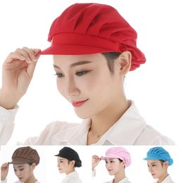 work uniforms wholesale UK - Unisex Mesh Visors Caps Cafe Bar Kitchen Restaurant Hotel Chef Uniform Waiter Work Wear Hats Men Women Breathable Workshop Caps