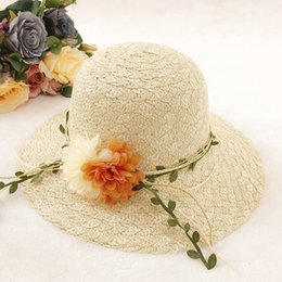 fadf938f Womens Gardening Hat Straw Australia - Summer Straw Hat With Wide Brim And  Flower For Womens