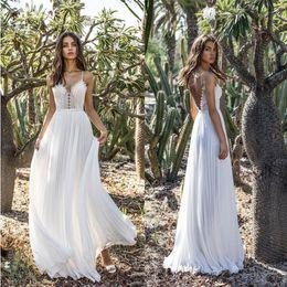 $enCountryForm.capitalKeyWord Australia - Women's Beach Dress White V-Neck Spaghetti Strap Wedding Party Evening Dresses