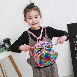 $enCountryForm.capitalKeyWord Australia - Korean-style Children's Bags 2019 Spring-Summer New Style Backpack Cute Bow Sequin Backpack Men's And Women's Child-Style School