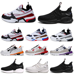 black men running shoes discounted NZ - Discount Men Running Shoes Black White Grey Purple platform Triple S Mens Trainers Walking Jogging Athletic Sport Sneakers 40-46
