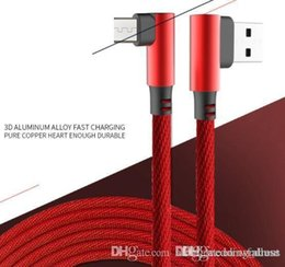 x micro usb Australia - New 90 Degree Micro USB V8 Cable 1m 2A Fast Charger Cords Braided Type C Data Line for X 8 7 6 Smartphone I Samsung S4 S6 S7 S8 S9 Huawei