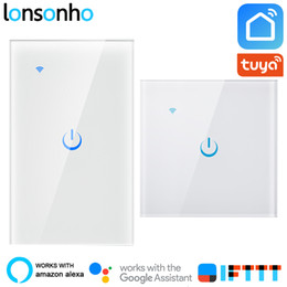 wifi controlled light switch Australia - Lonsonho Smart Wifi Switch EU US 1 2 3 Gang Tuya Smart Life App Wireless Remote Control House Touch Panel Light Switch