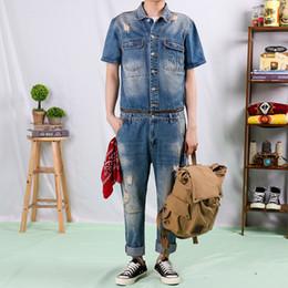 $enCountryForm.capitalKeyWord Australia - 2019 New Retro Brand Fashion Detachable Men Denim Jumpsuit Male One-piece Suit Men High Quality Jeans Men's Denim Overalls M-2XL