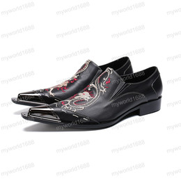 $enCountryForm.capitalKeyWord NZ - High Quality Genuine Leather Business Shoes for Men Pointed Toe Formal Brogue Shoes Big Size Man Dress Shoes
