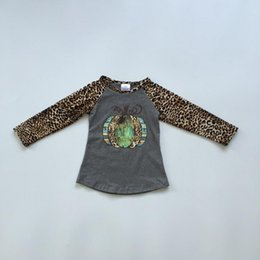 $enCountryForm.capitalKeyWord Australia - Thanksgiving fall winter grey leopard T-shirt top ruffle long sleeves pumpkin raglans t-shirt milk silk cotton baby girl clothes