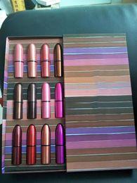 $enCountryForm.capitalKeyWord UK - Hot Sell makeup Brand M Lipstick Set 12colors Lipstick Matte 12pcs set with Gift Box DHL shipping