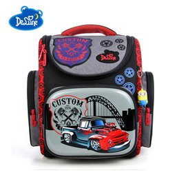Baby Bags For School Australia - Hot Sale Brand Delune Children Truck Pattern School Bags Orthopedic Kids Backpack For Primary School Student Baby Boys Schoolbag
