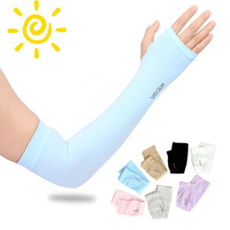 Wholesale fitness gears online – design 7 Colors Basketball Arm Guards Lengthen Elbow Protective Gear Sports Riding Fitness Arm Warmers Running Breathable Sunscreen Sleeves ZZA1004