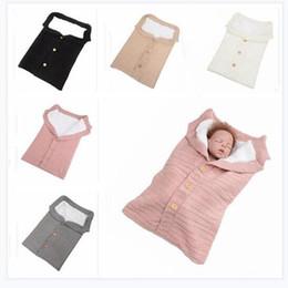 crochet bags for girls 2019 - Sleeping Bag Kids Toddler Baby Blanket Knitted Crochet Button Sleep Sack Stroller Wrap Winter Warm Thick Blanket for Gir