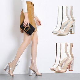 $enCountryForm.capitalKeyWord Australia - Sunshine2019 Season Annual Transparent Adhesive Piece Cool Boots Thick High Sandals Fish Mouth Crystal With Women's Shoes