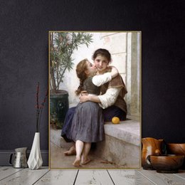 $enCountryForm.capitalKeyWord Australia - William Adolphe Bouguereau Old Famous Master Artist A Little Coaxing Canvas Painting Poster and Print for Decor POP Wall Art