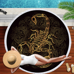 towels prices NZ - Tiger Botanical Garden Series Round Beach Towel Price Large Microfiber Blanket Mat Toalla Sunblock Blanket Yoga Mat 150cm drop ship in Towel