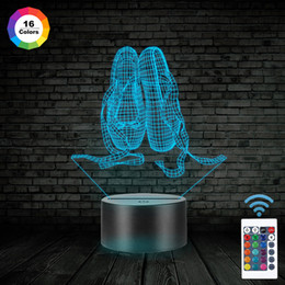$enCountryForm.capitalKeyWord NZ - Ballet Shoes 3D Illusion Night Light Remote 16 Color Kids Toy Birthday Xmas Gift Table Lamp Bedside Nightlight Touch Sensor Atmosphere Lamp