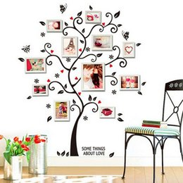 Tv Frame Plastic NZ - Frame Tree Wall Stickers Muslim Vinyl Home Stickers Wall Decor Art Mural for Living Room Bedroom TV Decoration Home Decals