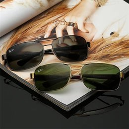 gold rimless designer glasses 2019 - Excellent Quality Fashion Designer Sunglasses Semi Rimless Sun Glasses For Mens Womens Gold Frame Green G15 Glass Lenses