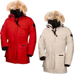 $enCountryForm.capitalKeyWord NZ - 2019 Women Winter Warm Goose Women's Expedition Parka Heavyweight Overcoat PBI Goose Down Feather Jacket Big Coyote Fur Collar for Lady