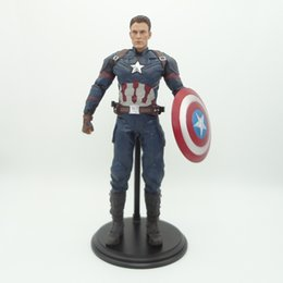 anime sonic toy NZ - Captain America Civil War Action Figure 1 6 Scale Painted Figure Empire Toys Captain America Pvc Figure Toy Brinquedos Anime Y190604