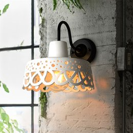industrial arts Australia - Cement Hollow Wall Lamps Art Restaurant Lamp Loft Retro Coffee Shop Bar Bathroom Kitchen Industrial Sconce Wall Lights Fixtures