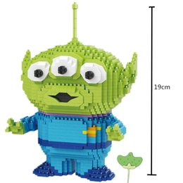 $enCountryForm.capitalKeyWord Australia - Mini Blocks Big size Cartoon Model Aliens Building Toy Anime Auction Figures Micro Brick Brinquedos Toys for Children Xmas Gift