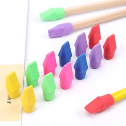 children stationery wholesalers NZ - Children'S Student Painting Stationery Pencil Leather Cap Eraser Child Student Drawing Pencil Eraser