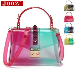 small clear tote bags Canada - Panelled color saddle Women's tote Clear Transparent Clutch Bag small Ladies Hand bags crossbody bag Femme Shoulder Bags