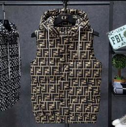 Automne et Hiver Design Nouvelle veste et les femmes des hommes Waistcoat Web Celebrity même style pain Suit en vrac Collier Stand imprimé Lettre Waistc en Solde