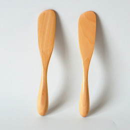 $enCountryForm.capitalKeyWord Australia - High Quality Japanese Style Wood Butter Cheese Knife Marmalade Spatula Wooden Tableware with Thick Handle WB338