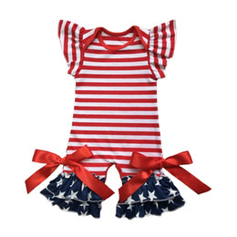 patriotic clothes Australia - America Patriotic Infant Clothes Newborn Clothing In 4th Of July Baby Gown Romper Flutter Sleeve Capris Leg Baby Romper Jumpsuit Y19050602