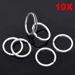 Cross Connector Diy Australia - 10 pcs   lot DIY Key Ring Metal Silver Nickel Split Key Ring Keyring 25mm Connectors Stainless Steel
