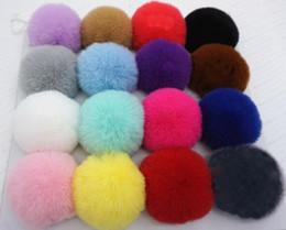 Hair Poms Wholesale Australia - 20pcs 6cm Faux Fur pompon ball fluffy imitation RABBIT fur pompom Soft Pom Poms for DIY bobbles hair bows hoop Accessories GR152