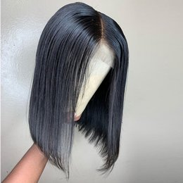 $enCountryForm.capitalKeyWord Australia - 4X4 Silk Base Short Full Lace Front Closure Wigs Bob Wig For Black Women Natural Color Brazilian Remy Hair