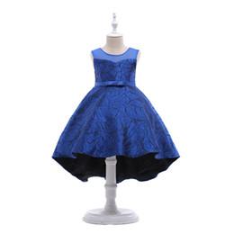 $enCountryForm.capitalKeyWord UK - Girls Blue Dresses Princess Party Clothes Kids Green TuTu Dress Children Clothing Pretty Wedding Girl Pink Jacquard Costumes