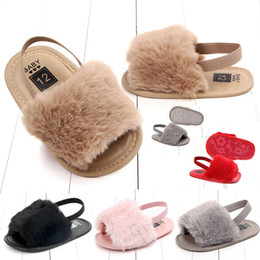 $enCountryForm.capitalKeyWord Australia - Kids Designer Sandals Baby Girls Fur sandals Fashion design infant Fur Slippers Warm Soft Kids home shoes children toddler solid color 0-1Y