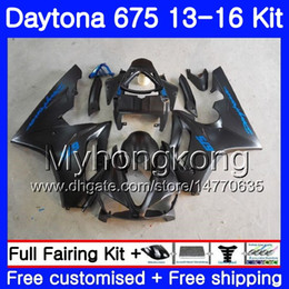Dark blue matte online shopping - Body For Triumph Daytona Daytona Bodywork Matte black hot HM Daytona675 Daytona Fairings
