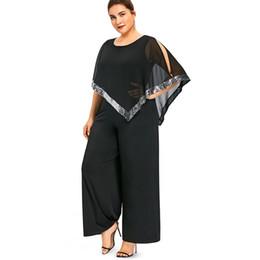 389465d83a8eba Plus Size Sequin Jumpsuits UK - Lortalen Plus Size 5XL Wide Leg Long Pants  Jumpsuit Romper