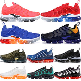 03f0a2e1a 2019 TN Plus Men Running Shoes USA Grape Red Violet Blue Tropical Sunset  Triple Black White Womens Trainers Designer Sports Shoes Sneakers