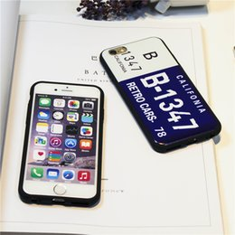 number plate covers 2019 - Top Quality License Plate Number Phone Case For iPhone 7 Plus 6 6s TPU Cases Car Number License Plate Capa Funda Coque C