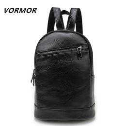 Doctor Backpacks Australia - Vormor Multifunction Leather Small Backpack Bag Waterproof Fashion Chest Pack Crossbody Bags For Men Women Y19061102